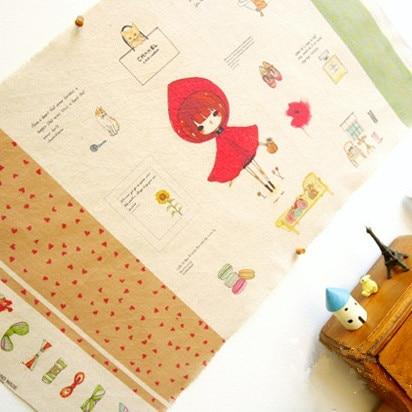 la ragazza in rosso - 2 pz assortiti tinti a mano di tela del cotone stampato trapunta tessuto diy patchwork cucito trasporto 40 x 70 cm ( nuovo prodotto )