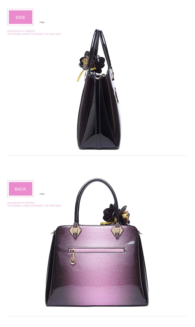famosas flor panelled bolsas de couro feminino