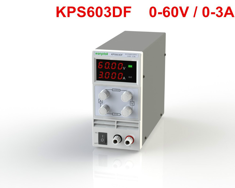 KPS603DF Adjustable High precision double LED display switch DC Power Supply protection function 60V3A 110V-230V 0.1V/0.001A EU switch power kps3010d adjustable high precision double led display switch dc power supply protection function 30v10a 110v 230v