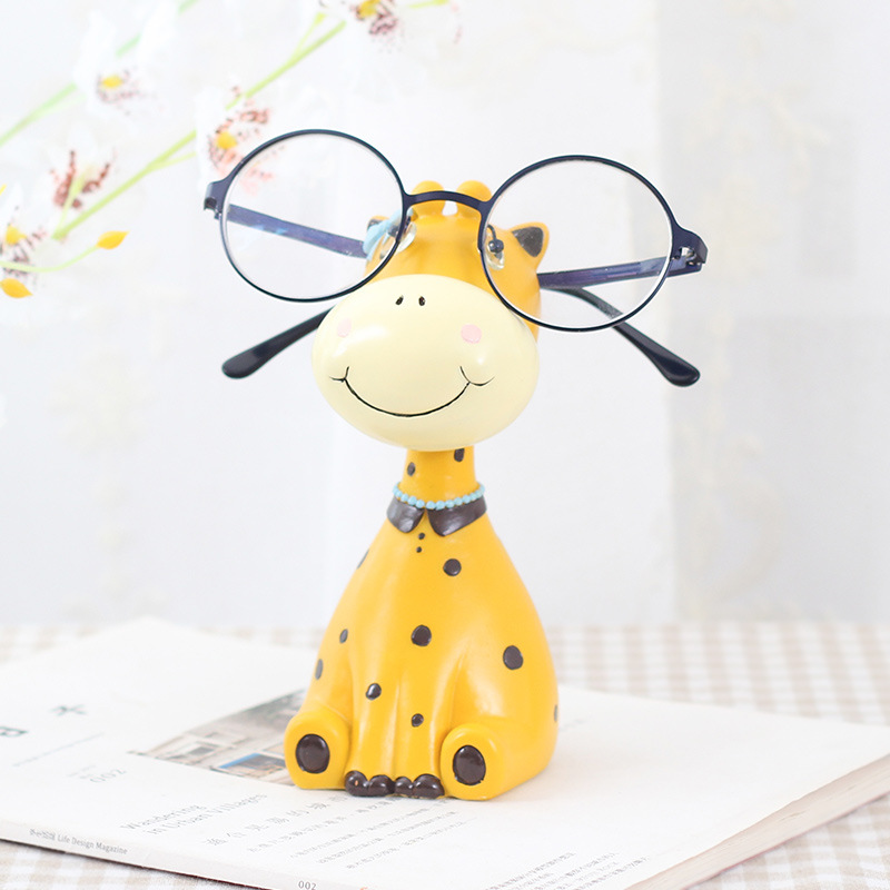 Animal Glasses Stand Resin Crafts Lovely Eyeglasses Sunglasses Stand Holder Rack Animal Home Decor Best Gift