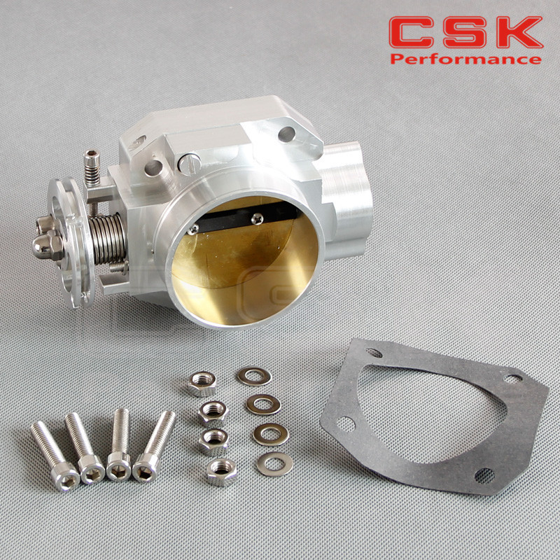 Combinaison de corps d'accélérateur en aluminium 70mm pour moteur Honda B16 B18 Civic ACURA Integra SI CRX GSR