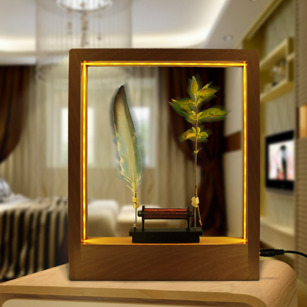 Slow Motion Frame LED Optical Illusion Sculpture Lightweight Object Slow Motion Picture Frame Time Frame Night