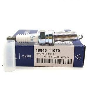 Image 2 - 4pcs 18846 11070 SILZKR7B11 Car Iridium Spark Plug Fit for Hyundai ACCENT i20 i30 i40 ix20 ix35 SONATA ELANTRA Kia K5 K3 SOUL