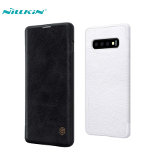 Leather Case For Samsung Galaxy S10 NILLKIN Luxury Flip PU Leather Phone Bag Case For Samsung Galaxy S10 Plus S10 Lite Cover nillkin pu pc flip open case w display window for samsung galaxy mega 2 black