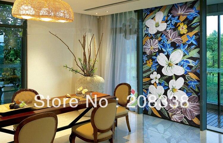 Imagem de puzzle mosaico de vidro, mosaico arte padrão