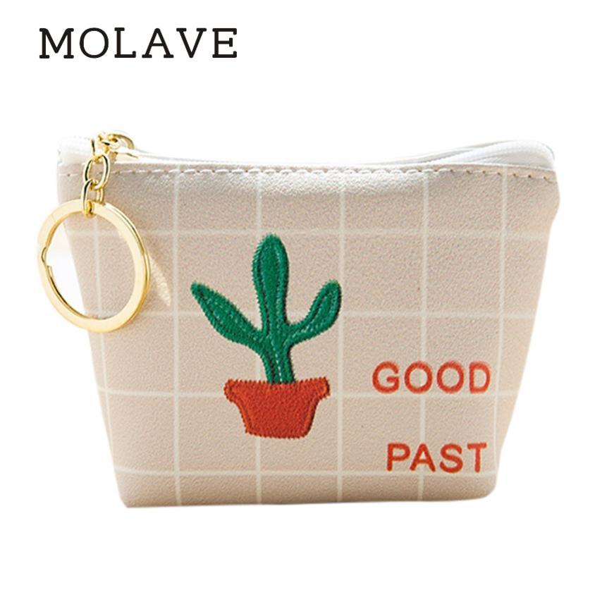 MOLAVE wallets wallet female Solid coin purse zipper Women Girls Cute Fashion CANVAS Coin Purse Wallet Bag Change Pouch K Jan16