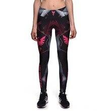 Fitness Leggings Fashion Women New Pants High Waist Red phoenix Digital printing Leggings Fitness