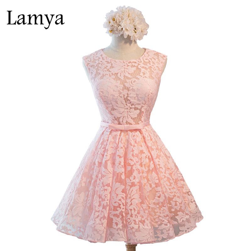 Aliexpress.com : Buy Lamya Sexy Open Back Ribbon Lace Prom ...