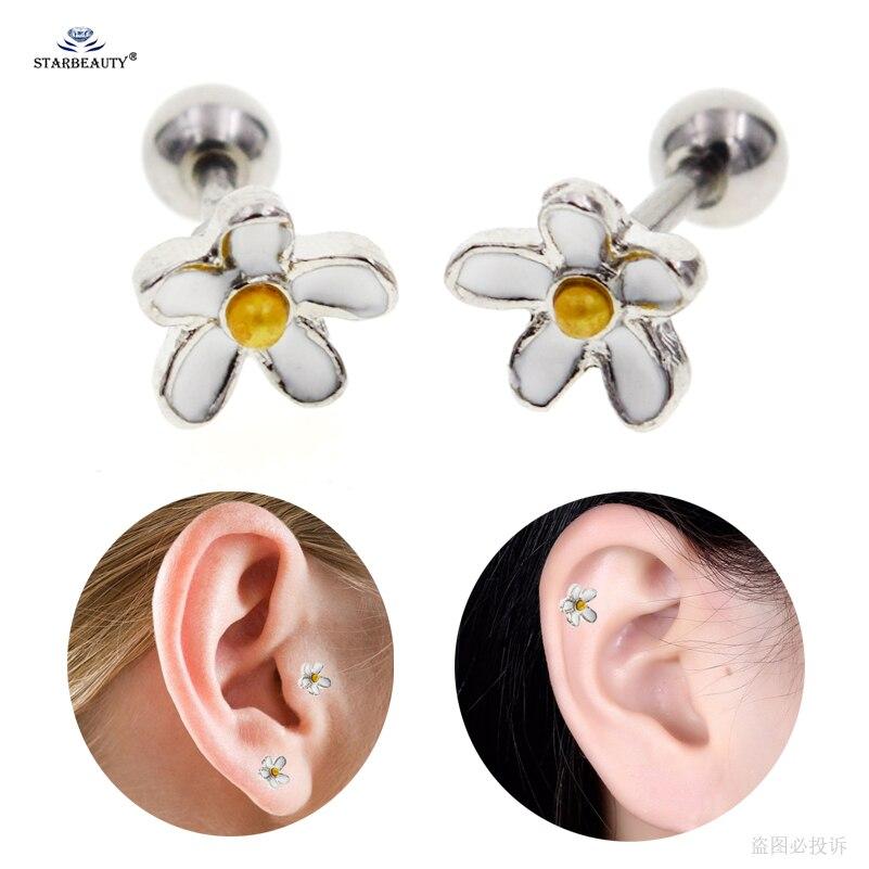 Starbeauty 2pcs 1 2x6mm Cute Flower Helix Piercing Cartilage