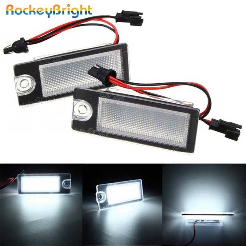 Rockeybright No error Car Led License Plate <font><b>Light</b></font> for <font><b>Volvo</b></font> S60 <font><b>S80</b></font> XC90 V701 XC701 license plate lamp <font><b>rear</b></font> number plate <font><b>lights</b></font> image