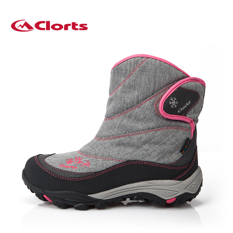 ФОТО 2016 Clorts Women Hiking Boots Waterproof Snow Boots Warm Outdoor Hiking Shoes for Women SNBT-203