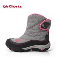 2016 clorts donne scarpe da trekking impermeabili stivali da neve caldo scarpe da trekking all'aria aperta per le donne snbt-203