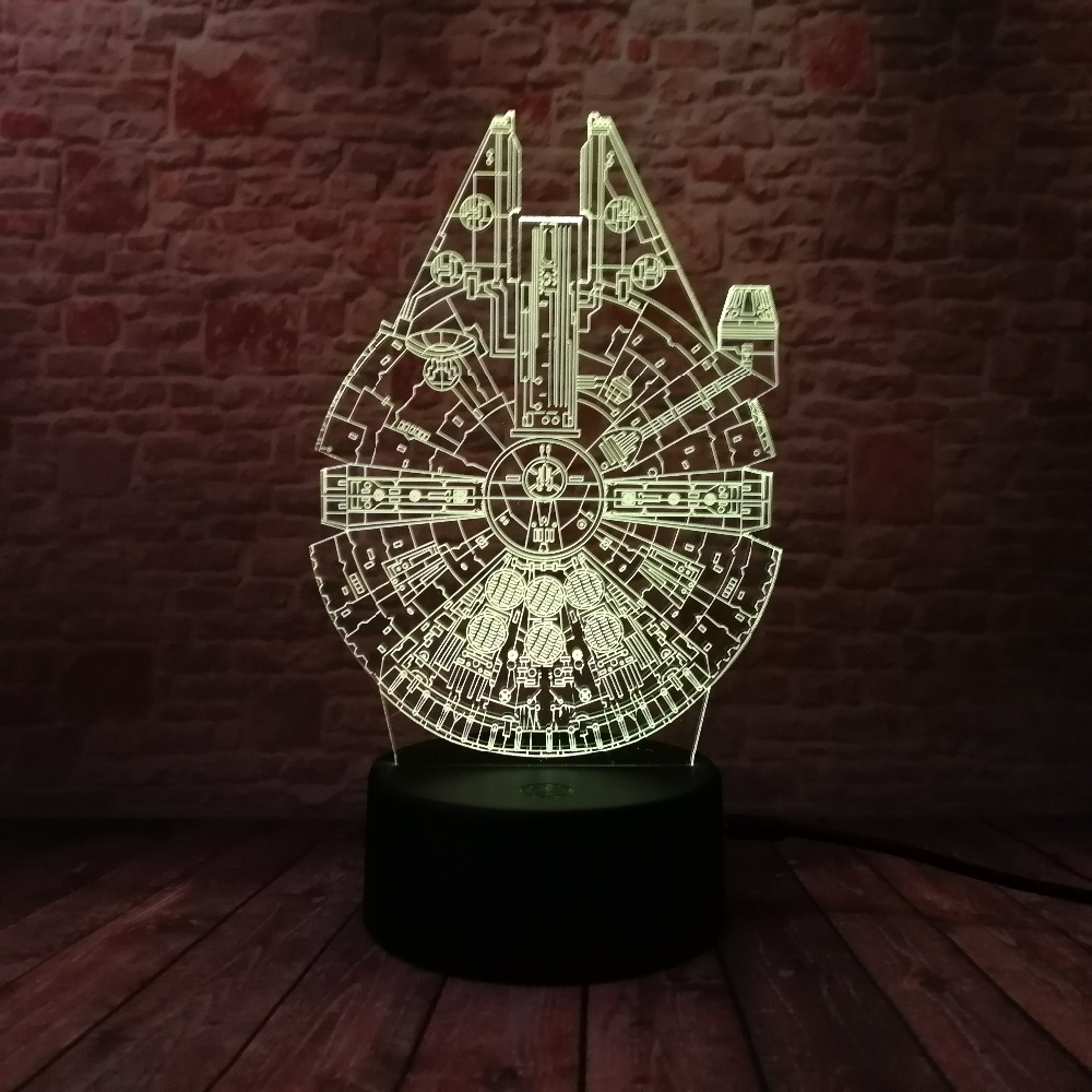 Star Wars Legends Novedad Nave espacial 3D Night Light Smart 7 Color - Luces nocturnas - foto 5