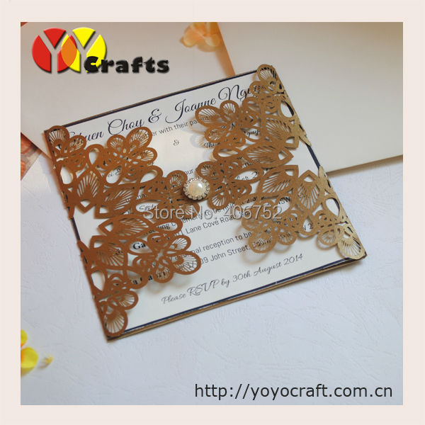 Online Buy Wholesale pop up wedding invitations card from China