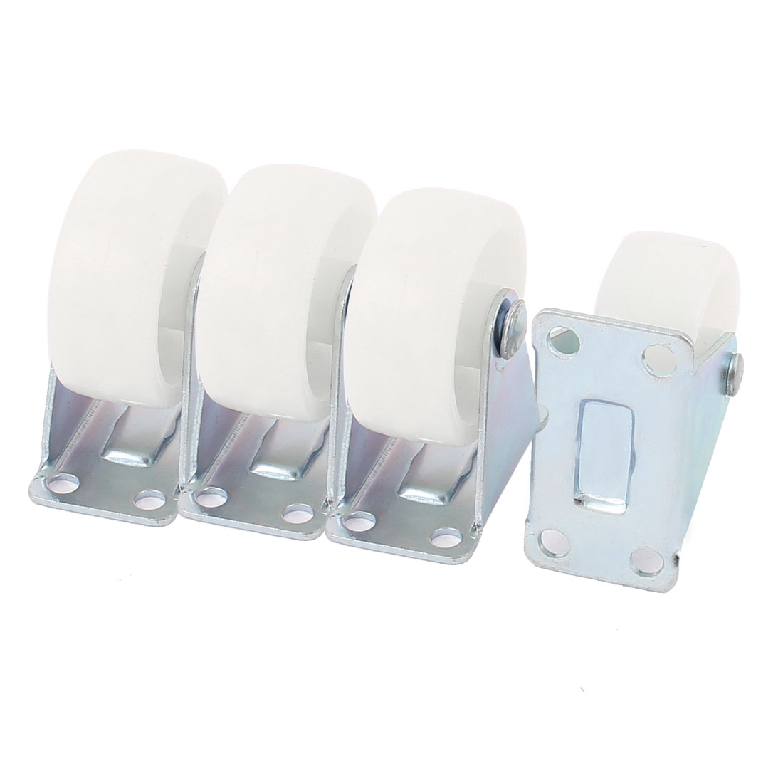 UXCELL Office Chair Furniture Trolley Carts 1.5 Pp Wheel Top Plate Fixed Caster 4Pcs