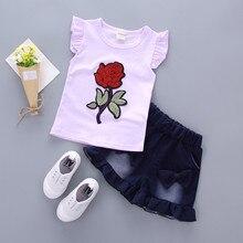 BibiCola Baby Girls Clothing Set Summer Toddler Girls Floral Tops T-shirt+Shorts Pants 2PCS Costume Kids Girls Outfits Clothing
