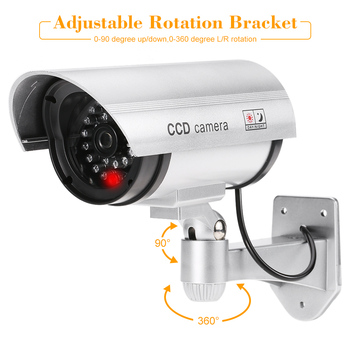 KKmoon Fake Camera Pratical Waterproof Fake Camera Flashing LED Light Dummy Camera Home Security Surveillance Bullet CCTV Camera