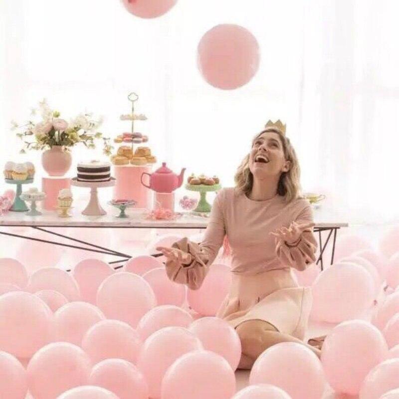 Bartek's Bartek 10 pouces Latex Ballons 2.2g anniversaire fête de mariage Ballons rose clair mat couleur Globos