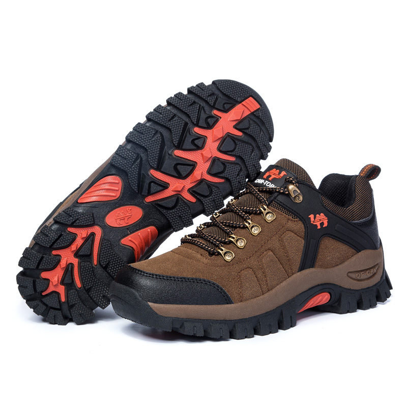 Womens Outdoor Hiking Shoes Suede Leather Waterproof Climbing Mountain Shoes Trekking Sports Sneakers Boots for Female ...