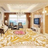 El envío libre de oro de estilo Europeo patrón de mármol alivio 3D s espesada auto-adhesivo oficina decoración mural estéreo
