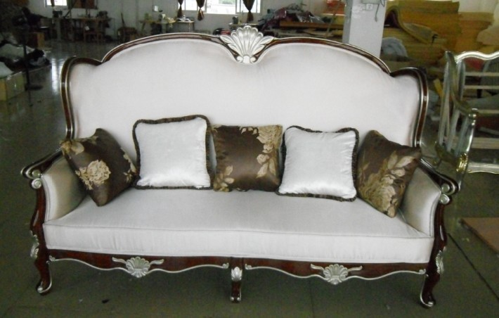 wooden carved sofa furniture couch/velvet cloth chairs living room sofa /fabric 3 seater chesterfield tyle sofa three seater with hand carved solid wood frame