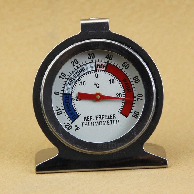 Stainless Steel Useful Temperature Refrigerator Freezer Dial Type Thermometer