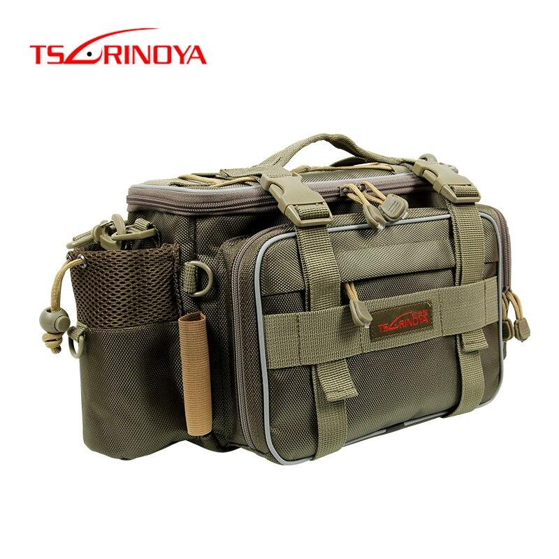 TSURINOYA 40 15 19cm Fishing Bag Multi function Fishing Tackle Bag Waterproof Canvas Waist Fishing Lure