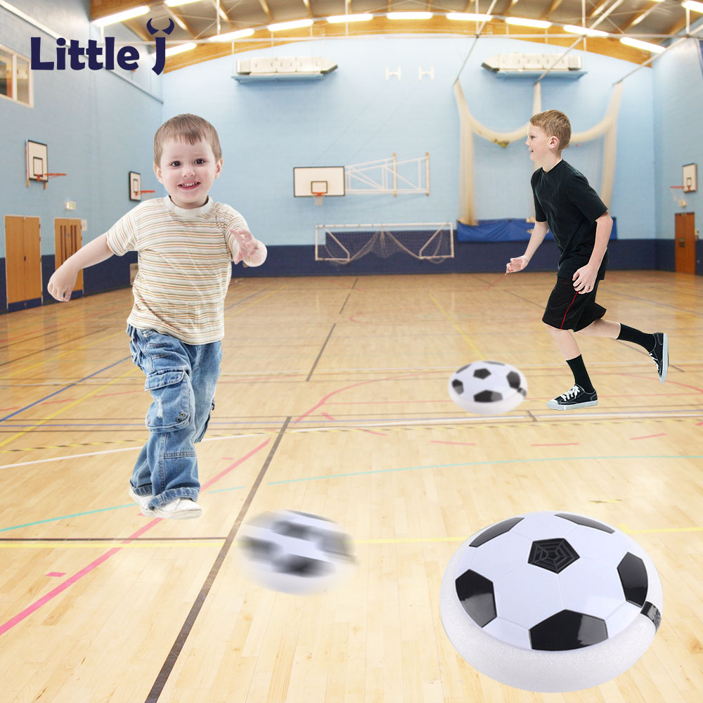 LED Light Flashing Arrival Air Power Soccer Ball Disc Indoor Football Toy Multi-surface Hovering Gliding Toy Kid Chidren Gift