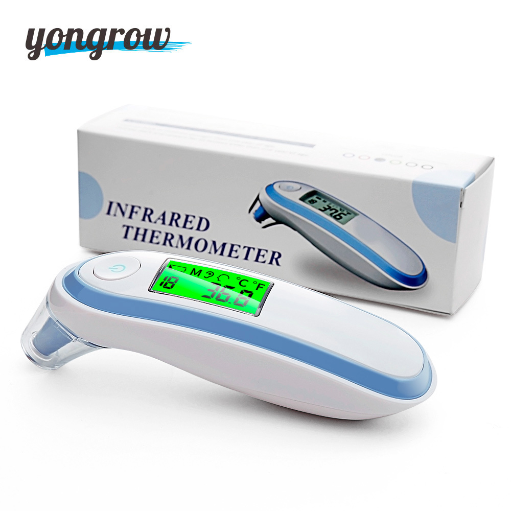 Yongrow Medical Ear Infrared Thermometer Adult baby Body Fever Temperature Measurement High Accurate Family Health Care ear otoscope with halogen bulbs halogen light oto speculum professional medical use medical auriscope ear care appliance