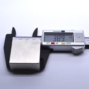 Image 4 - Неодимовый магнит, 2 шт., 40x40x20 мм, металлический Галлий, суперпрочные магниты 40*40*20, квадратный неодимио, мощный постоянный магнит