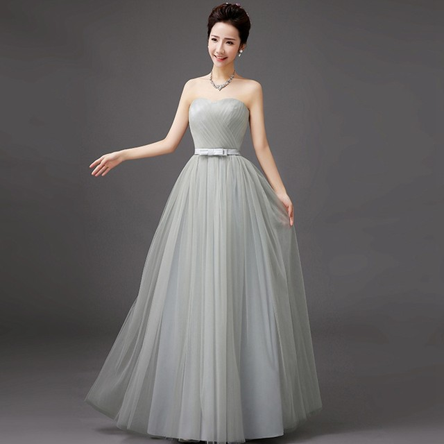 Tienda Online Jlzxsy nueva plata elegante boda gris barato Maxi ...