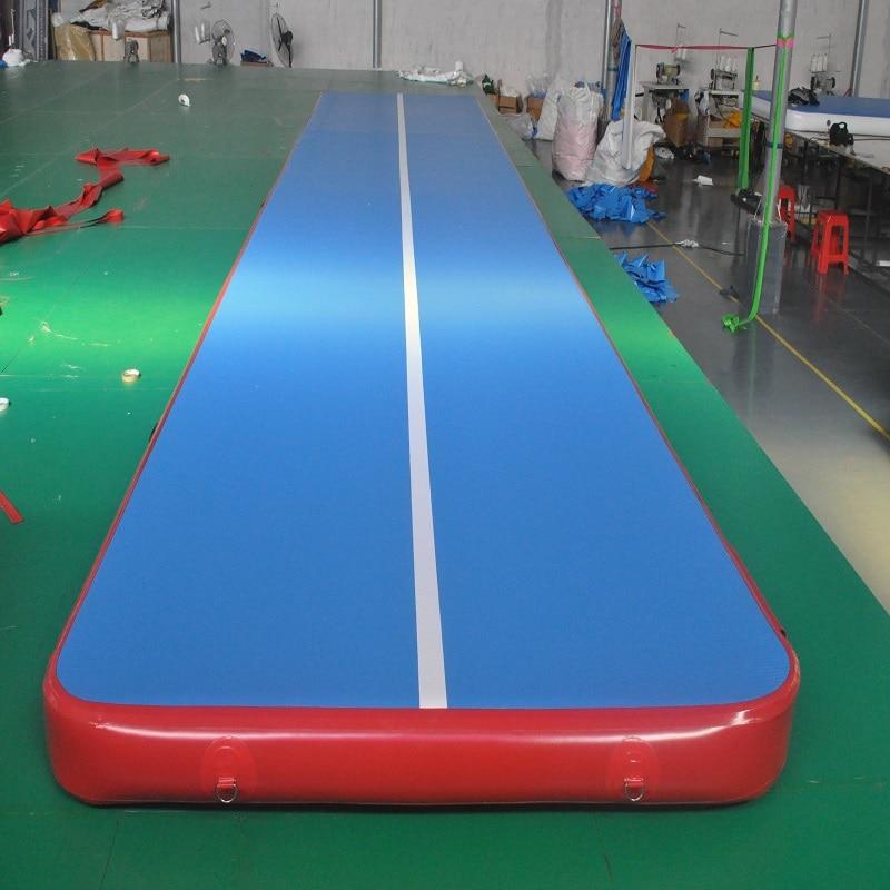 Надувной матрас гимнастика акробатика воздуха трек тренажерный зал мат много размер воздуха трек коврик Airtrack пол галтовка 0,1 м Высокое