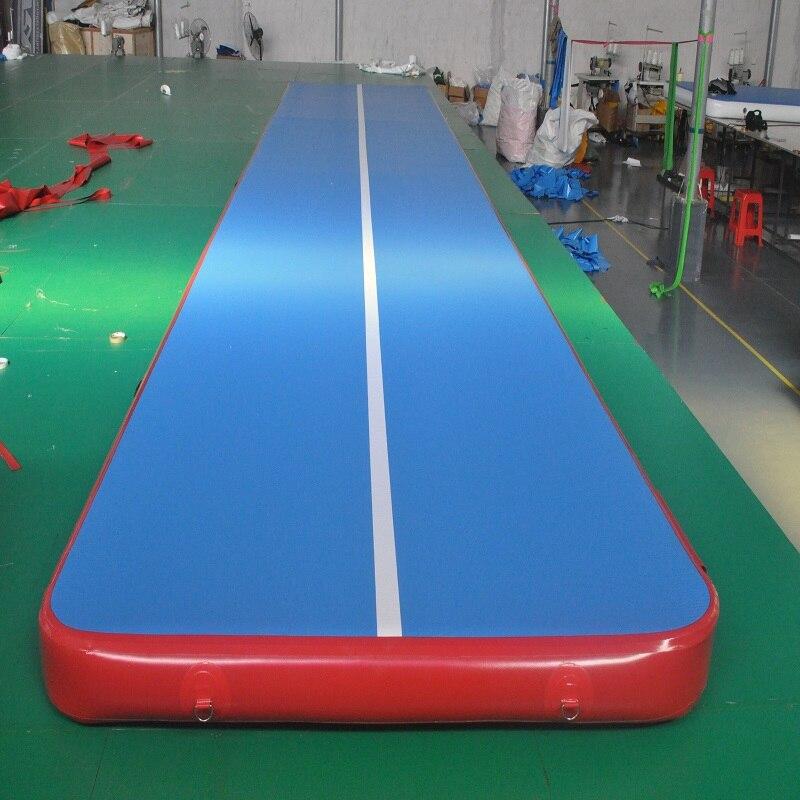 Gonflable Matelas De Gymnastique De Voie D'air de tapis de Gymnastique de taille tapis de piste d'air Airtrack Plancher Tumbling 0.1 M de haut