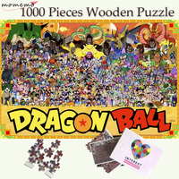 MOMEMO Dragon Ball Wooden Jigsaw Puzzles 1000 Pieces Adults Wooden Puzzle Cartoon Pattern Puzzle Games Kids Wooden Puzzle Toy