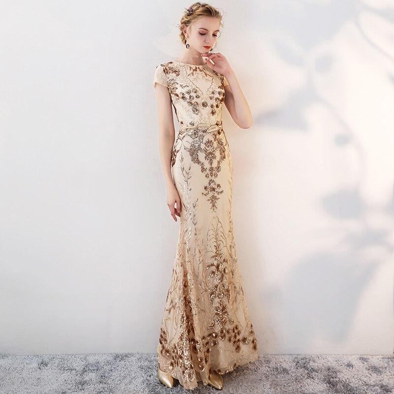 Mermaid Evening Dress Lång 2018 Eleganta Aftonklänningar Långa - Särskilda tillfällen klänningar - Foto 3