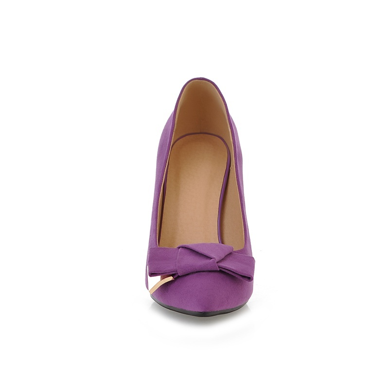 De Super Bout Femmes Mariage Automne Pointu Mode Talons Haute red Nouvelle Pompes purple Chaussures Black Partie Papillon Printemps 2018 Mince Sexy noeud gAxqEATfnw