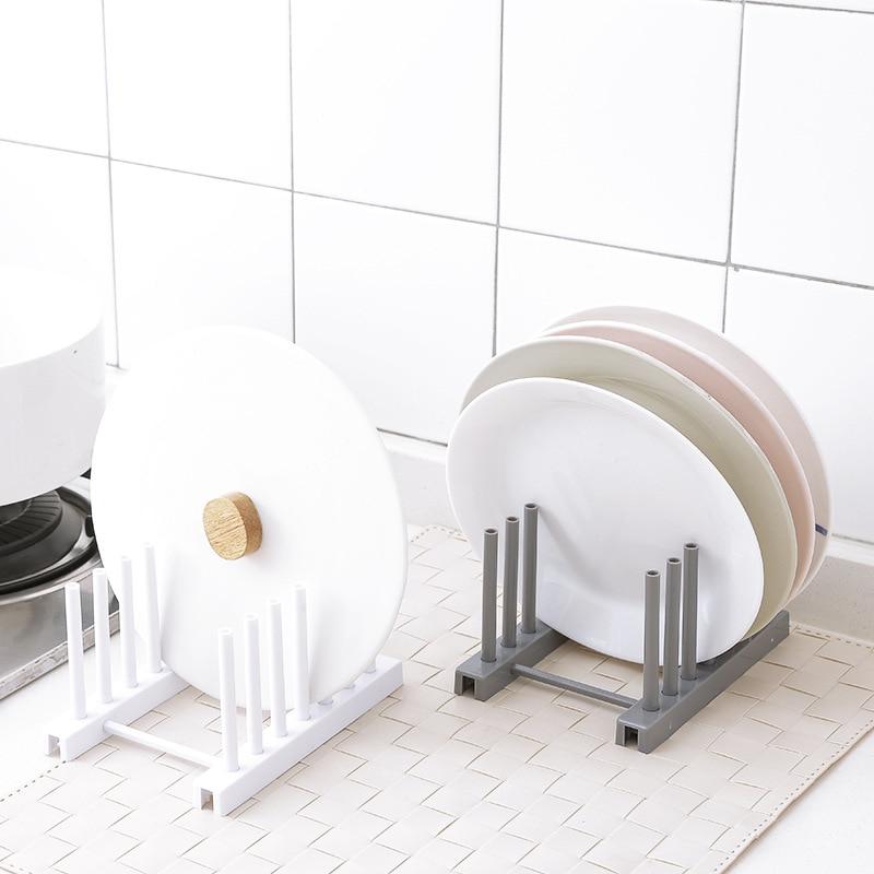 New Under Sink bowl plate dish drainer rack plastic BOOK Pot lid cover Holder storage shelf for kitchen Organizer accessories 6
