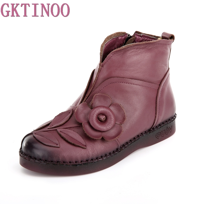 2018 Fashion Handmade Boots For Women Genuine Leather Ankle Shoes Vintage Mom Women Shoes Round Toes Martin Boots tastabo 2017 fashion handmade boots for women genuine leather ankle shoes vintage mom women shoes round toes martin boots