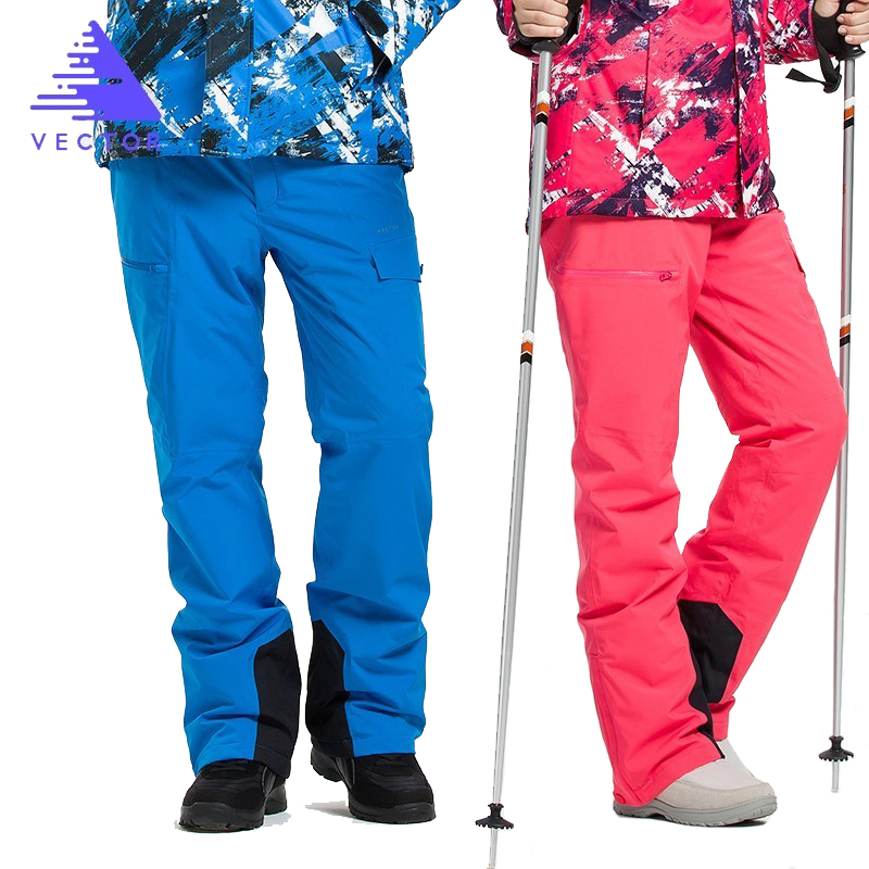 Extra Thick Ski Pant Overalls Warm Snow Sport Men Winter Trouser Women Skiing Suit Snowboard Outdoor Clothes Waterproof 2019 New