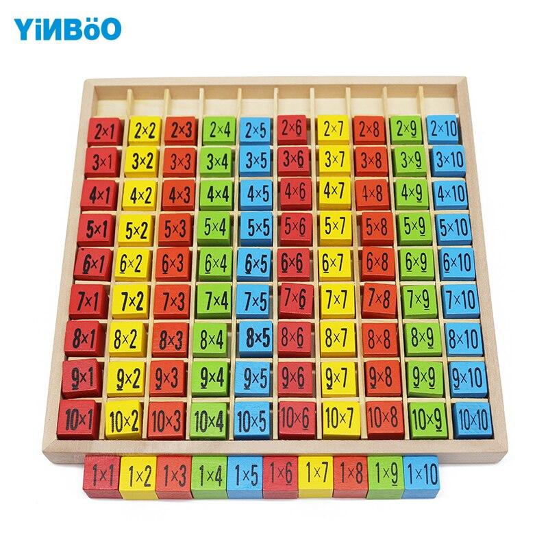 Монтессори 99 таблица умножения математика игрушка 10*10 фигура блоки ребенка раннего образования WoodenToys подарок на день рождения счеты