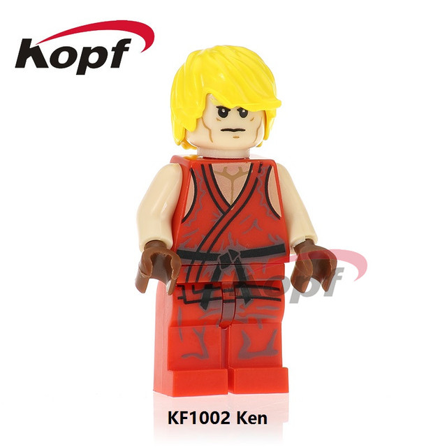 KF1002 Super Heroes Street Fighter Building Blocks Hoda Ken