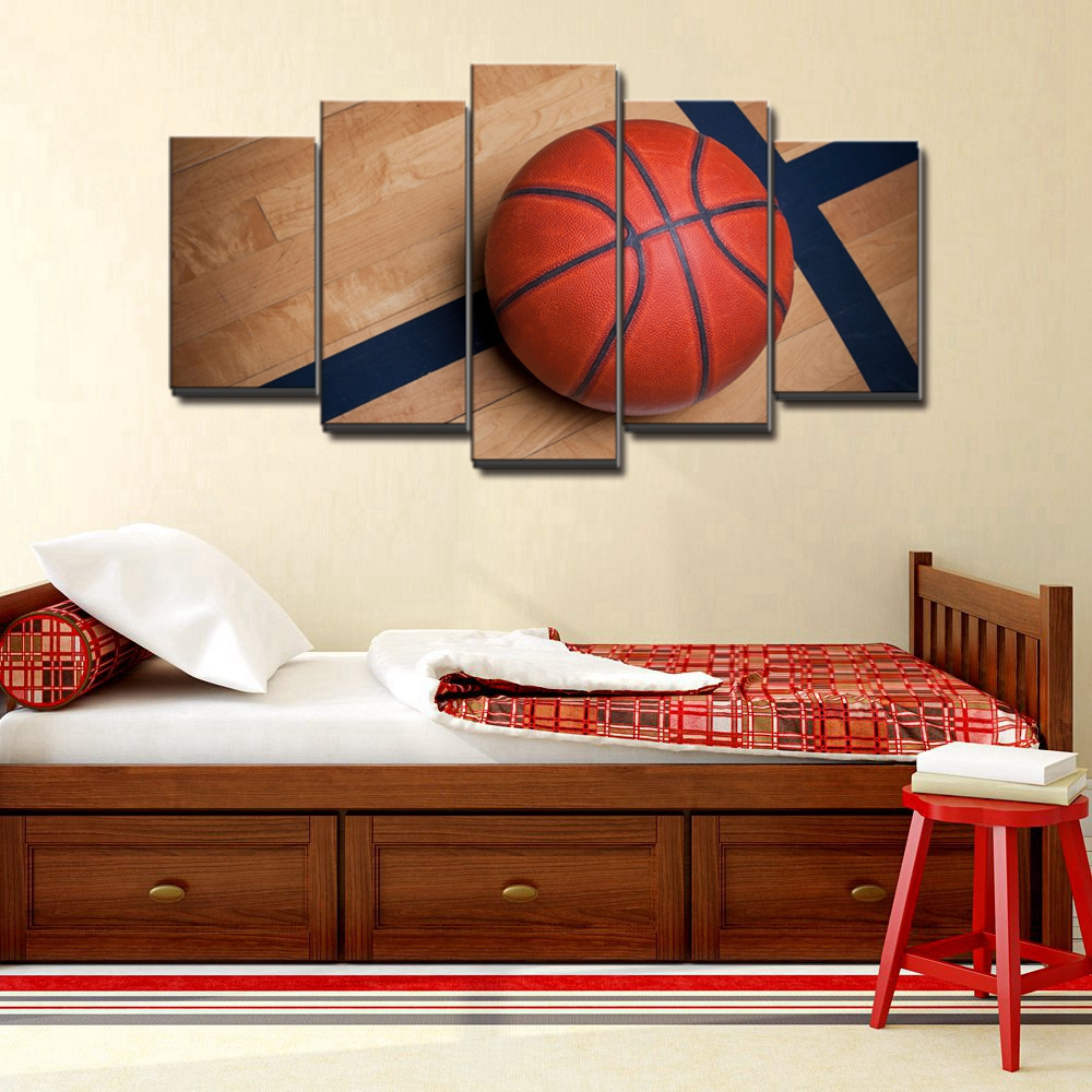 Basketball Sports Canvas Wall Art For Boys Bedroom Decor ...