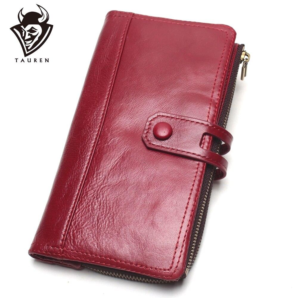 Cow Genuine Leather Women Wallet Female Coin Purse Walet Portomonee Clutch Money Bag Lady Handy Card Holder Long For Girls