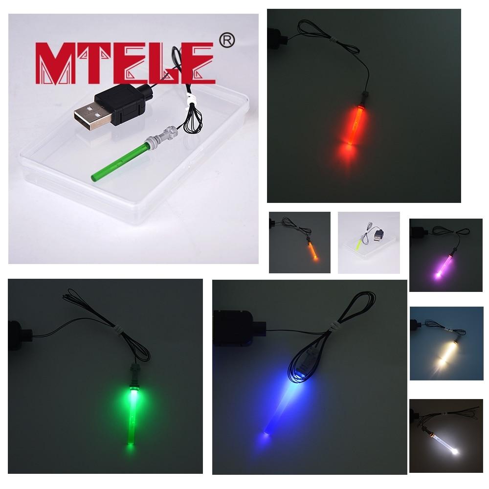 MTELE Brand LED light up kit for Blocks Compatible with Lego Lightsaber font b Toys b