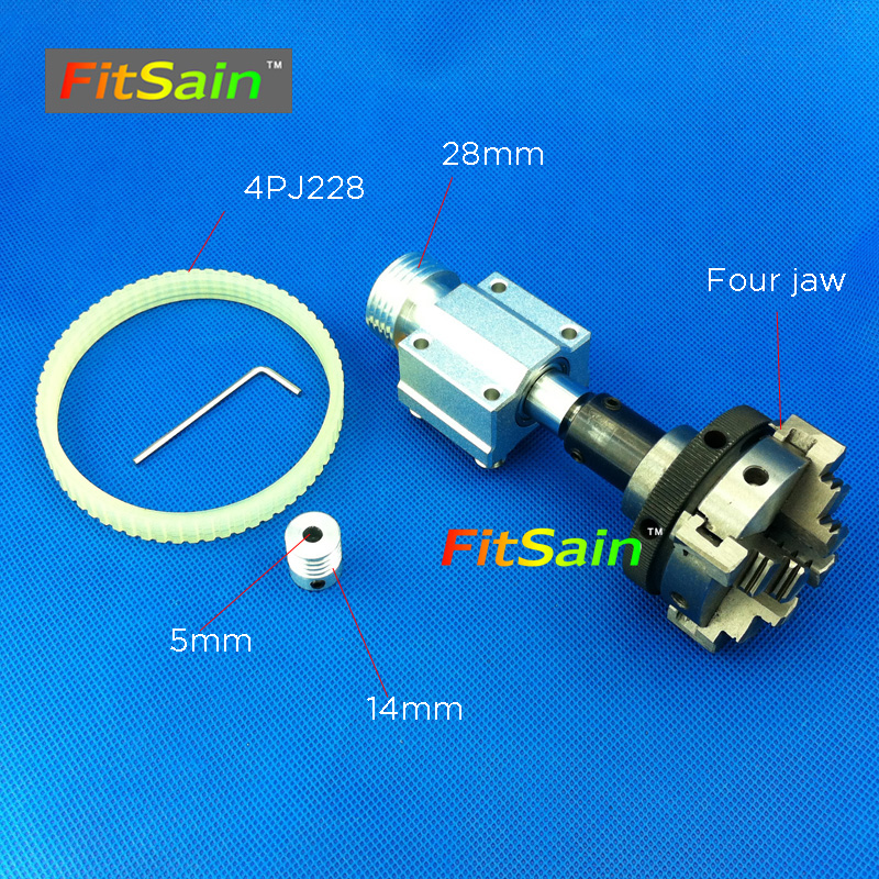 FitSain-hole 5mm pulley four jaw chuck D=50mm Machine Pulley Bench mini Lathe spindle fitsain 775 dc24v 8000rpm motor pulley three jaw chuck d 50mm b12 drill chuck pulley mini lathe