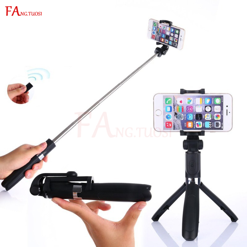 FANGTUOSI Selfie Stick Handheld Mini Tripod 2 in 1 Monopod Selfie Stick Bluetooth Wireless Remote Shutter for Android & Iphone