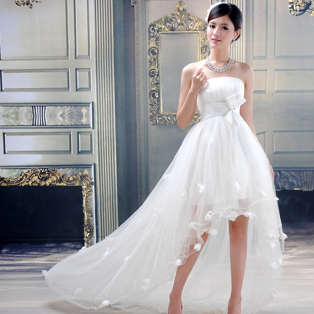 Vestido de novia cola pato
