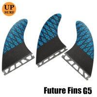 prancha quilhas de Honeycomb Surfboard Fin G5 Blue Future Fins High Quality Carbon Fibre Surf Fins barbatanas Free Shipping