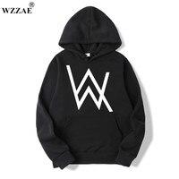 WZZAE 2018 New Design Mens Hoodies Alan Walker With Electric Sounds Autumn Winter Long Sleeve Hoodie
