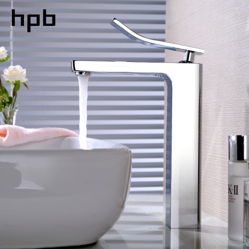 цены HPB Silver Sitting Single Lever Handle Hole Lavatory Vanity Basin Bathroom Sink Faucet Countertop Faucet Chrome Finish HP3159